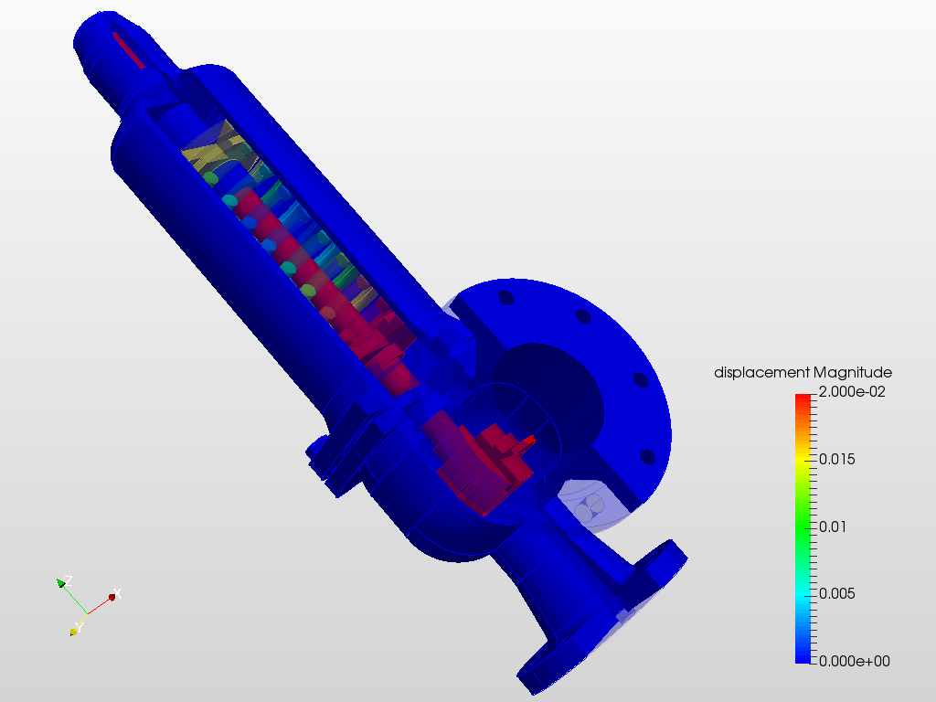 Stress Analysis of a Pressure Relief Valve   SimScale
