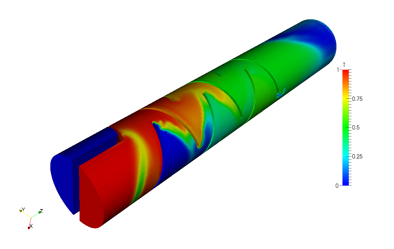 Fluid Flow through Static Mixer Design CFD Analysis | SimScale