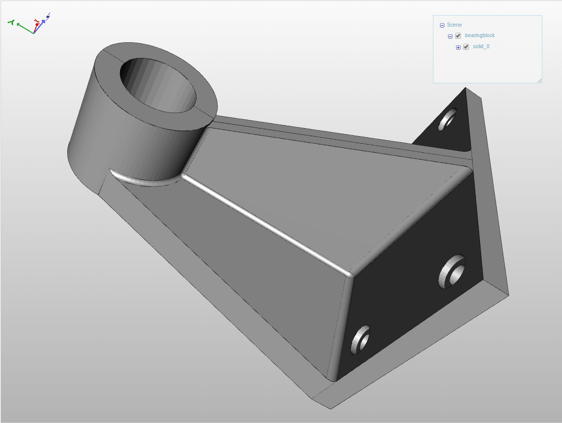 A cad part in the viewer