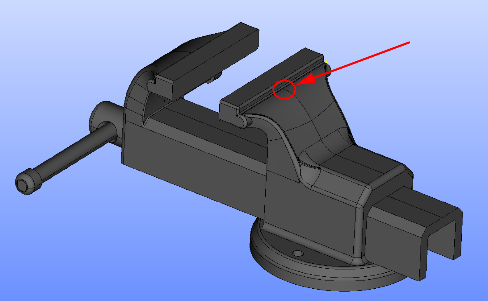 A bench-vice model
