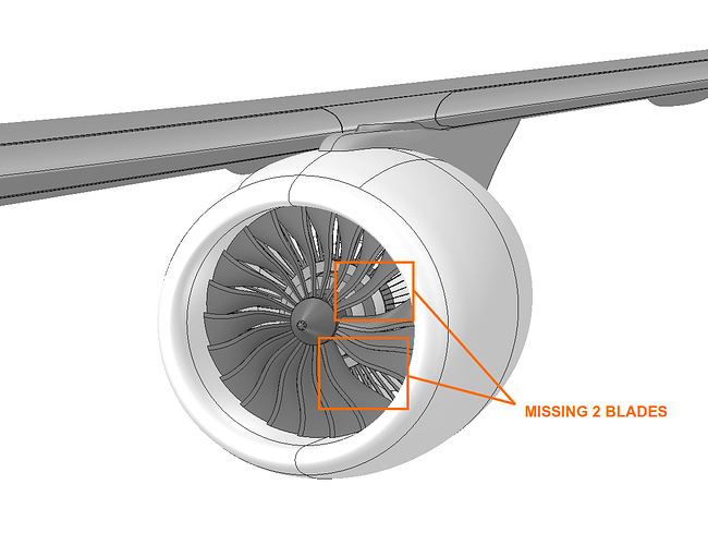 aerospace, aircraft jet engine vibration analysis, missing blade model
