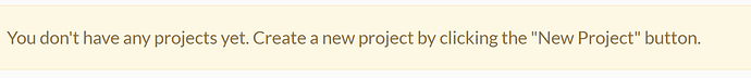 noprojects