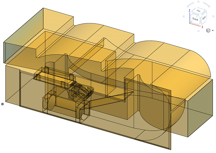 Trimetric View - Internal Fluid Volume