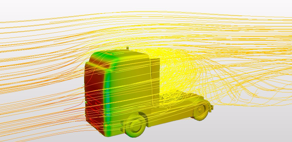 truck aerodynamics postprocessing simulation results