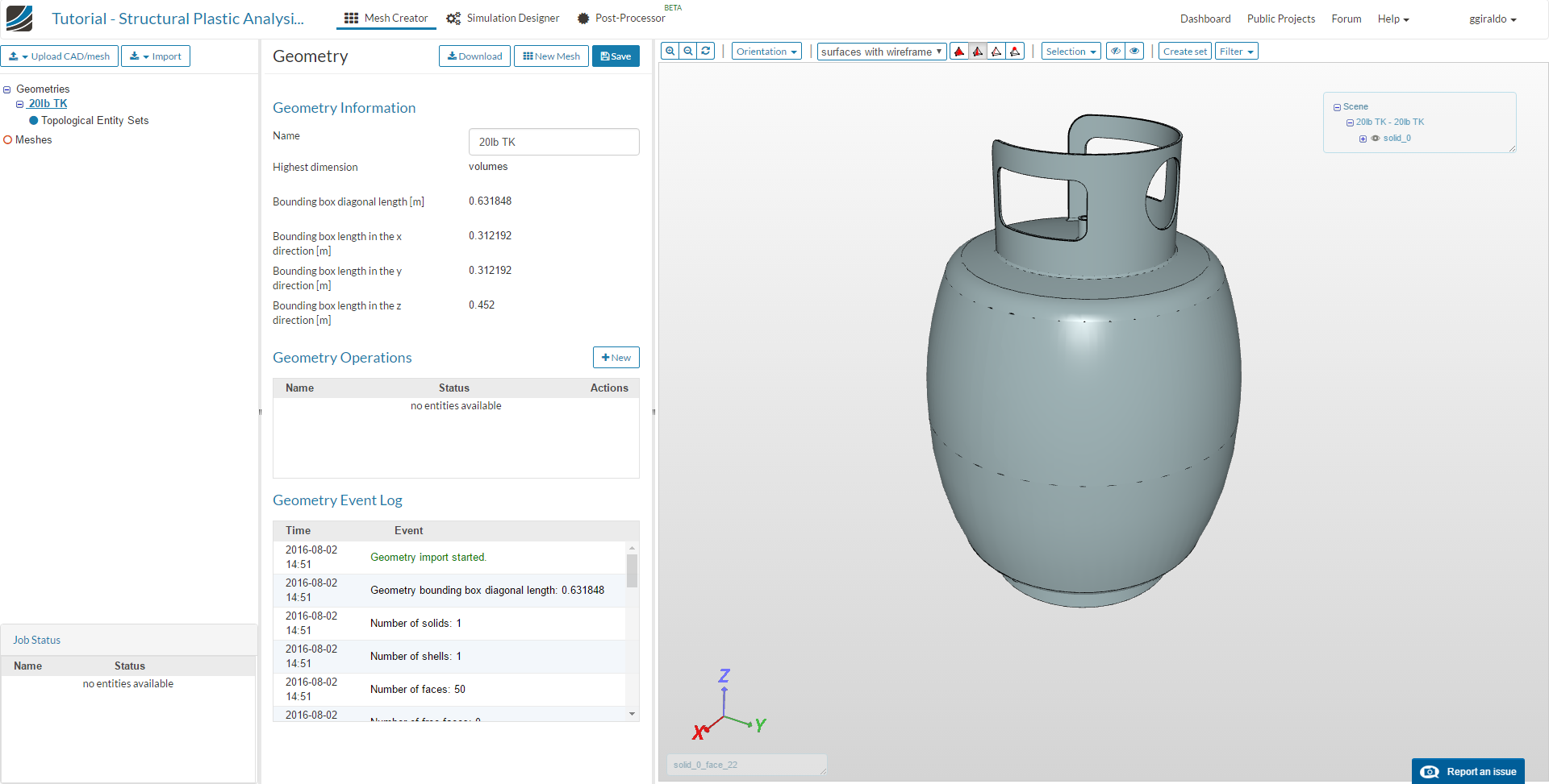 Tutorial - Structural Plastic Analysis of a Pressure Vessel