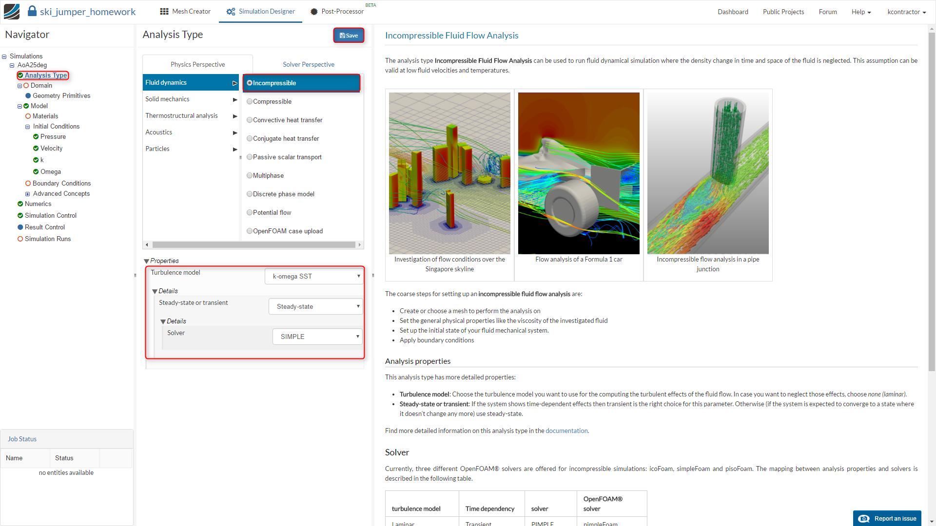 sports aerodynamics workshop homework step-by-step tutorial, incompressible analysis type