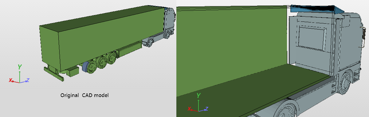truck aerodynamics geometry cad model