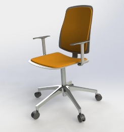 The Simplification Process Consisted Of Removing The Wheels And Adding A  Hole On The Bottom Of The Seatu0027s Back Rest To Allow A Simpler Bonded  Contact ...