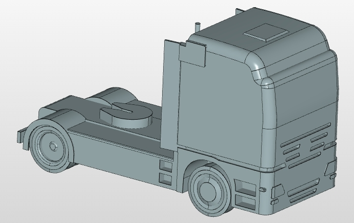truck aerodynamics cad model