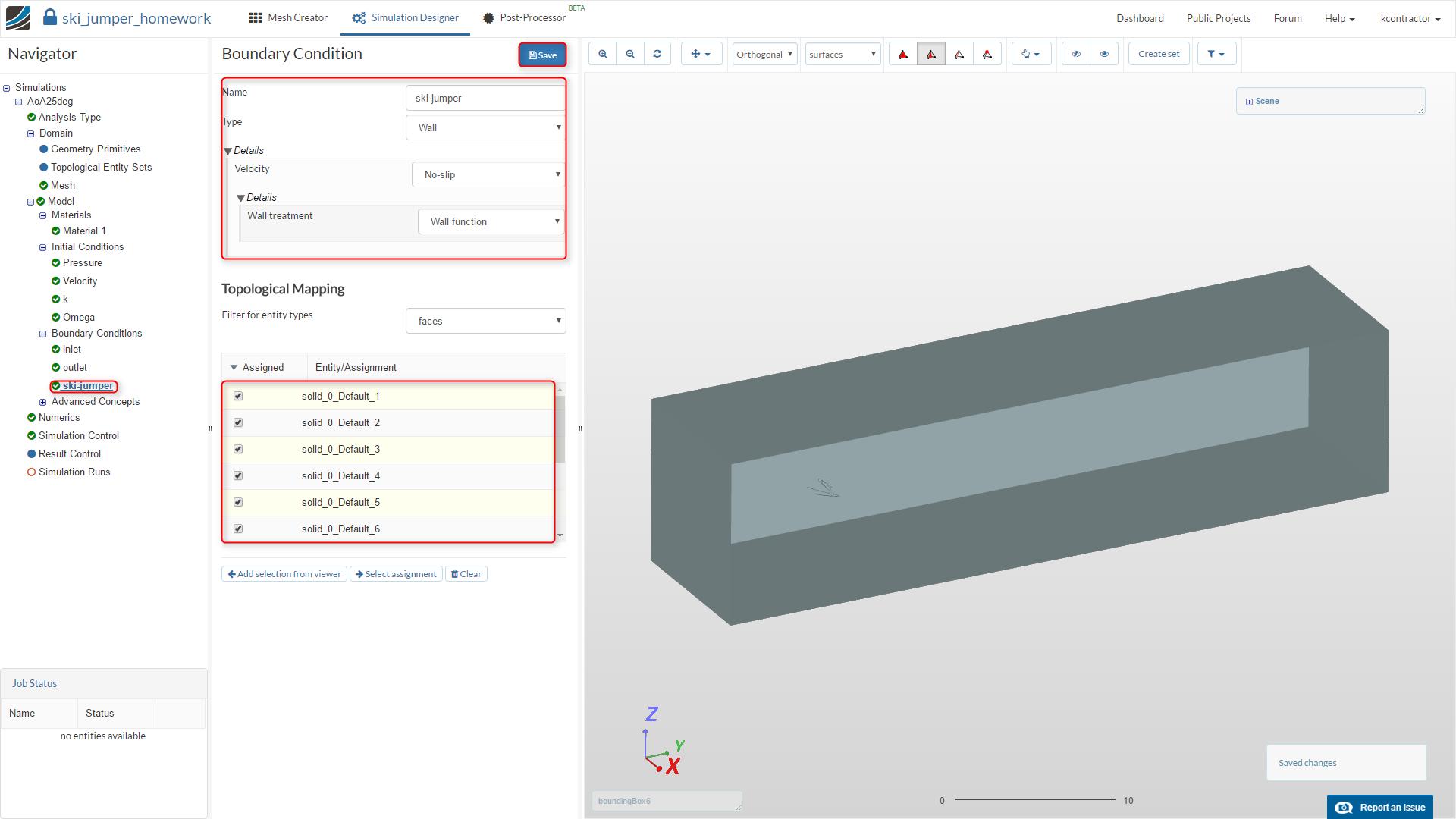 sports aerodynamics workshop homework step-by-step tutorial, new boundary condition