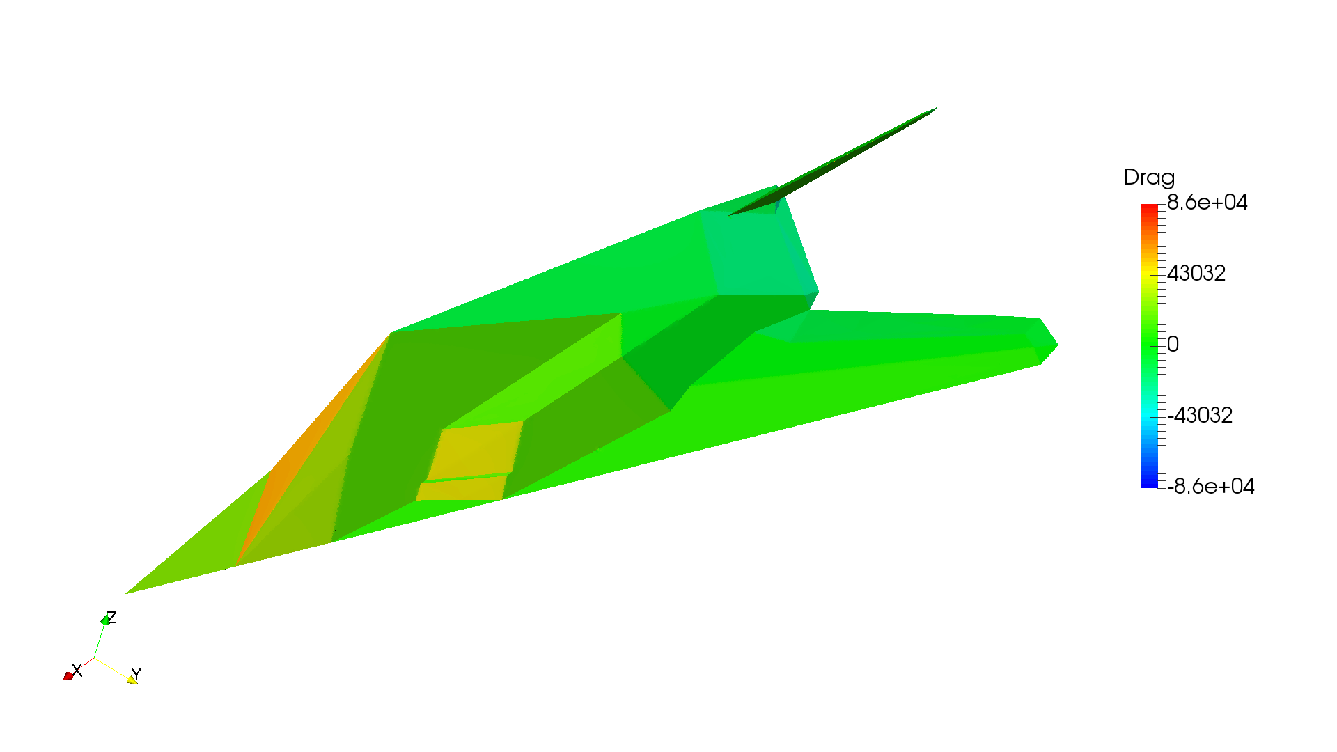 Aerodynamics Analysis Of An F 117 Bomber Simulation Project By Engine Diagram Drag21920x1080 573 Kb