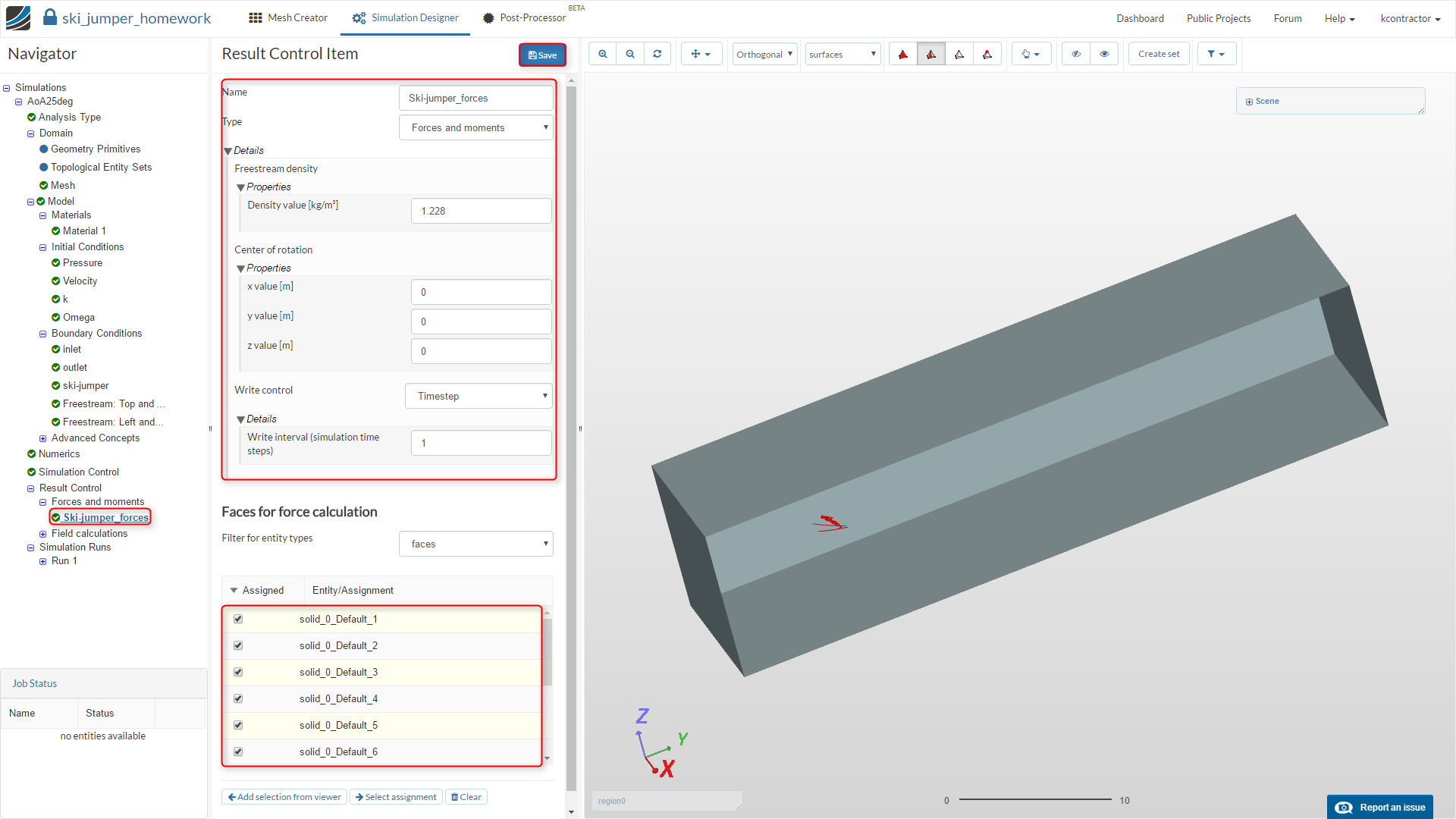 sports aerodynamics Workshop homework step-by-step tutorial, additional result control item setup