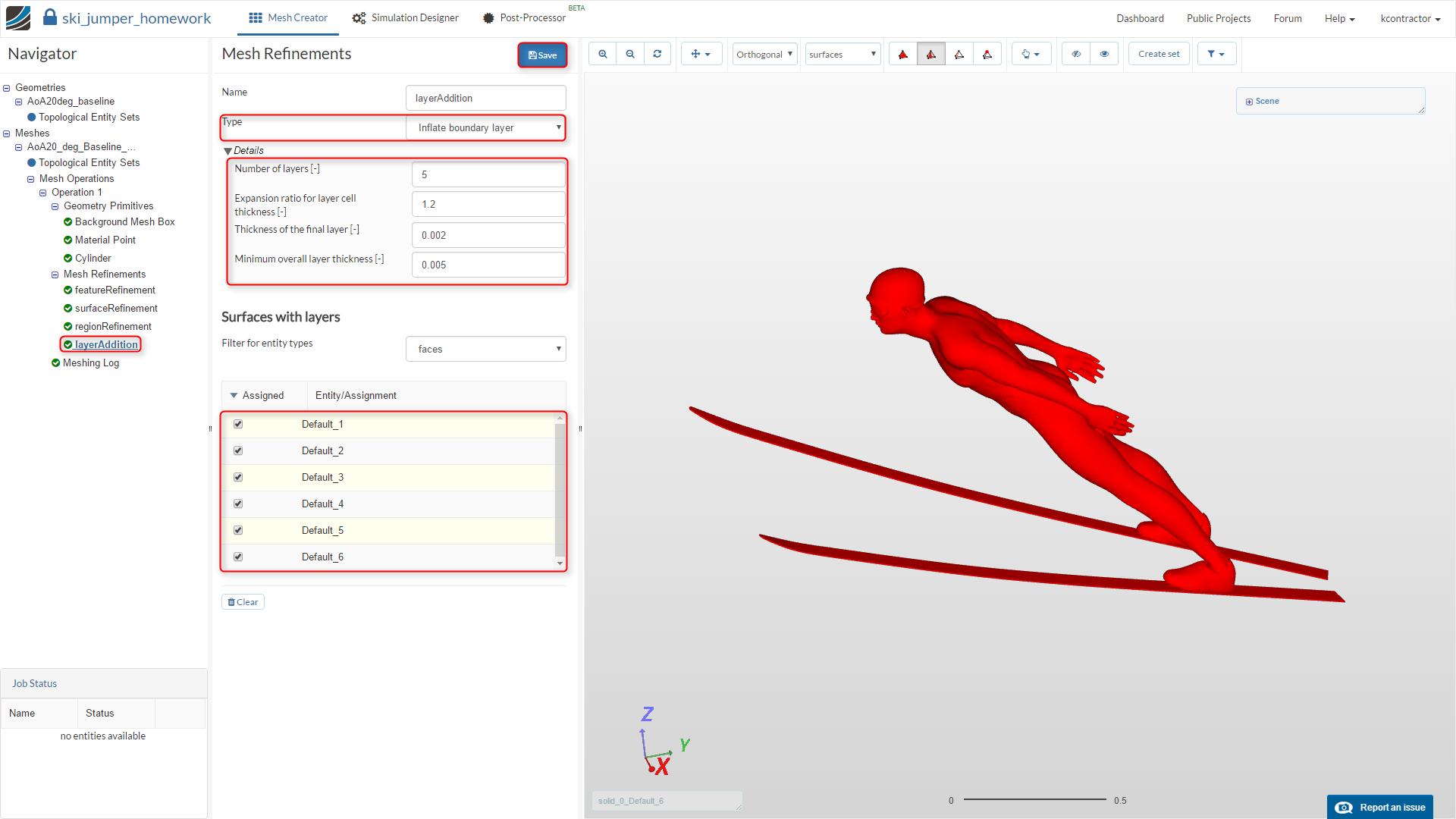 sports aerodynamics workshop homework step-by-step tutorial,  meshing, surface refinement