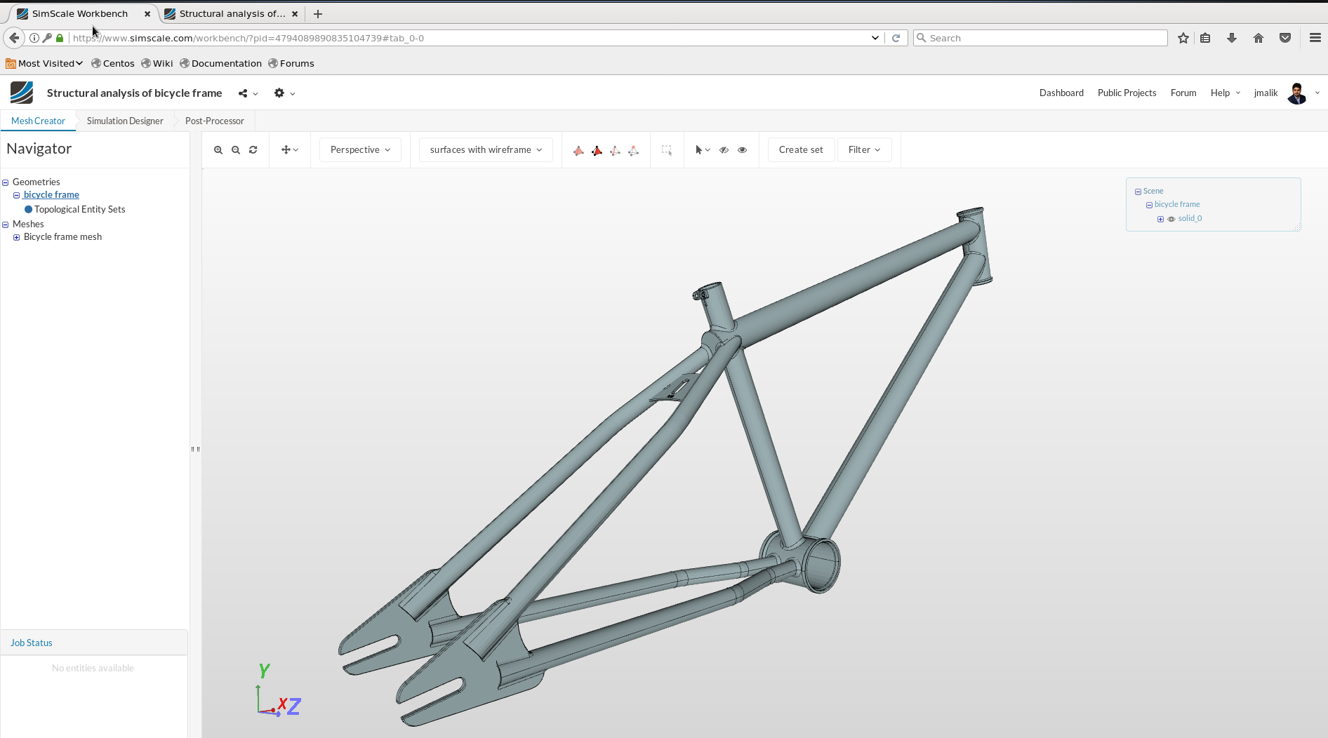 Structural analysis of a bicycle frame - Projects - SimScale CAE Forum