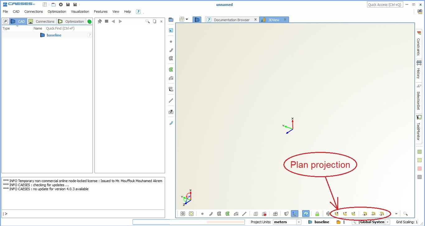 caeses, f1 aerodynamics workshop tutorial, plan projection