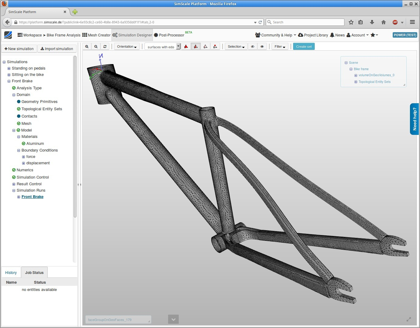 Bike Frame Analysis\' simulation project by jprobst - Projects ...