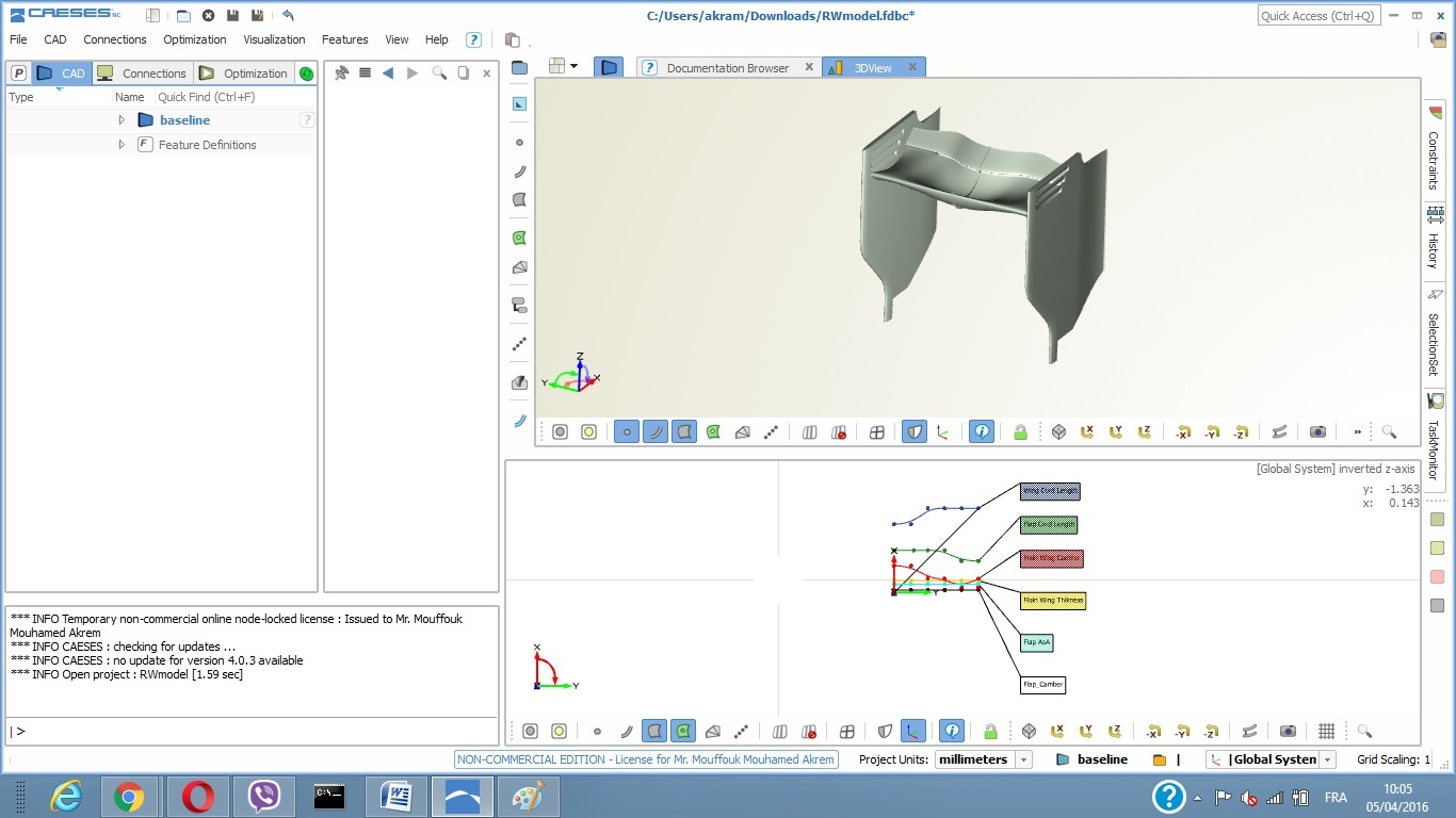 caeses, f1 aerodynamics workshop tutorial, geometry modification