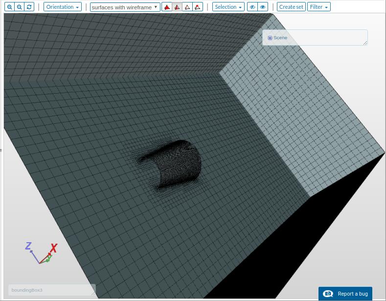 compressible flow simulation mesh