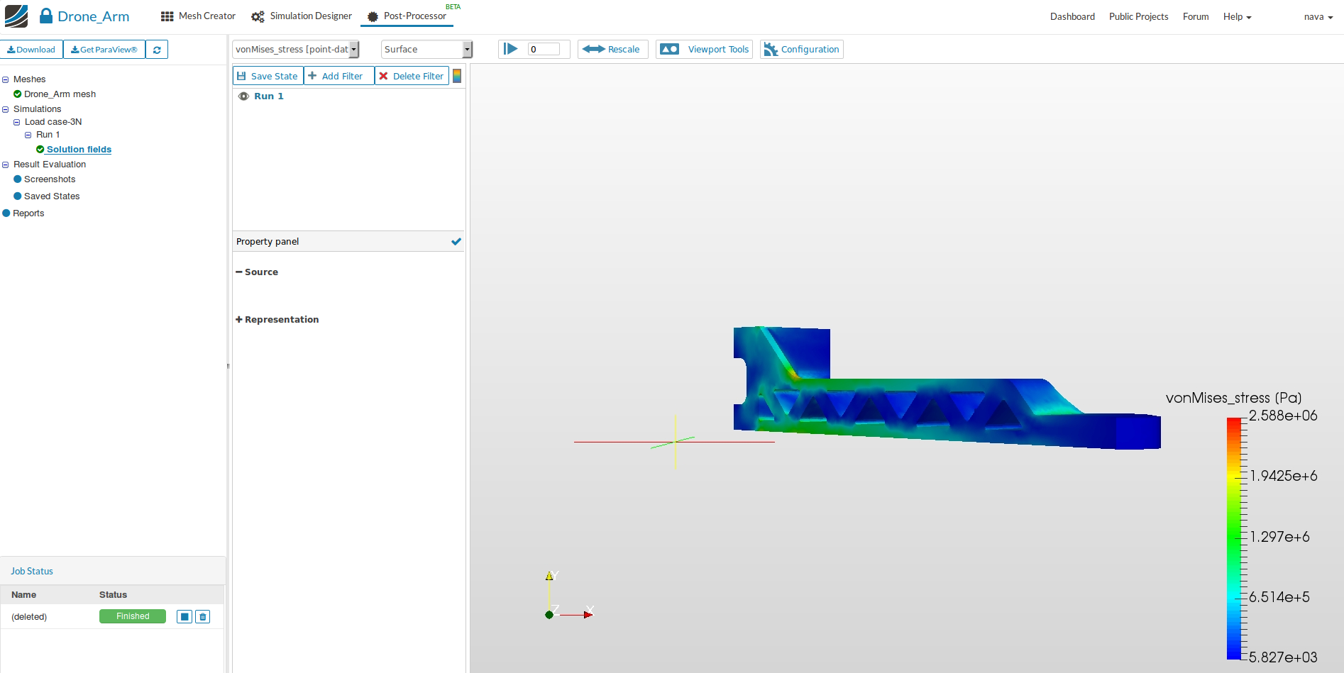 diy drone design, simulation results postprocessing
