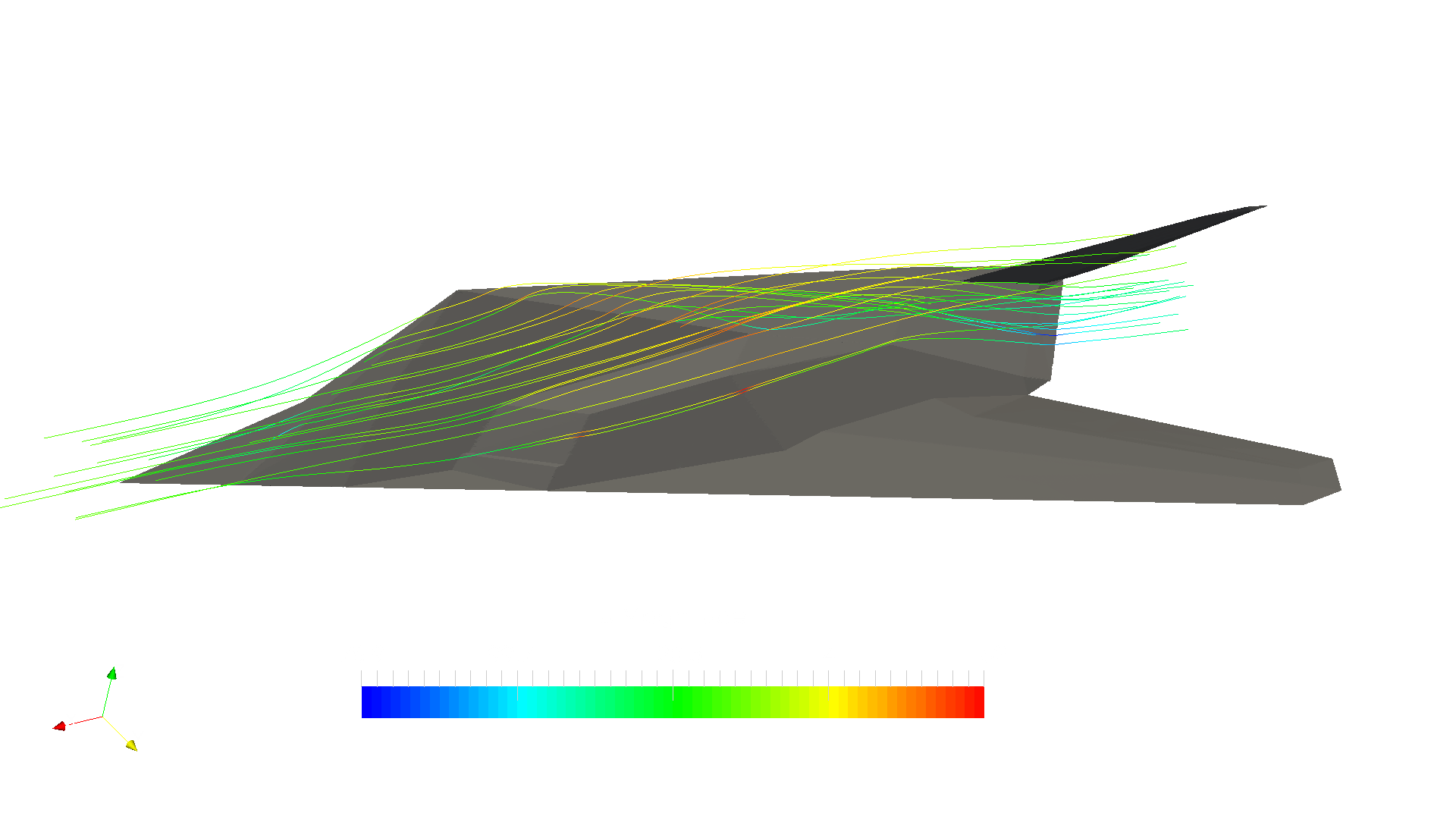 Aerodynamics Analysis Of An F 117 Bomber Simulation Project By Engine Diagram Velocity Contour1920x1080 735 Kb