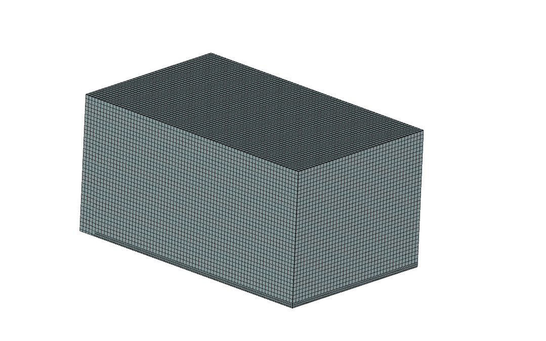 Building Vortex Shedding and Wind Load Analysis - wind tunnel mesh 2
