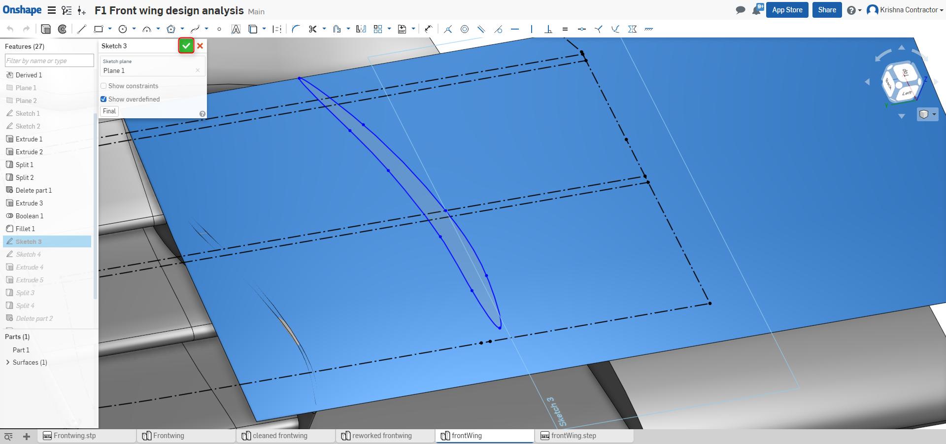 f1 aerodynamics f1 front wing vane design onshape