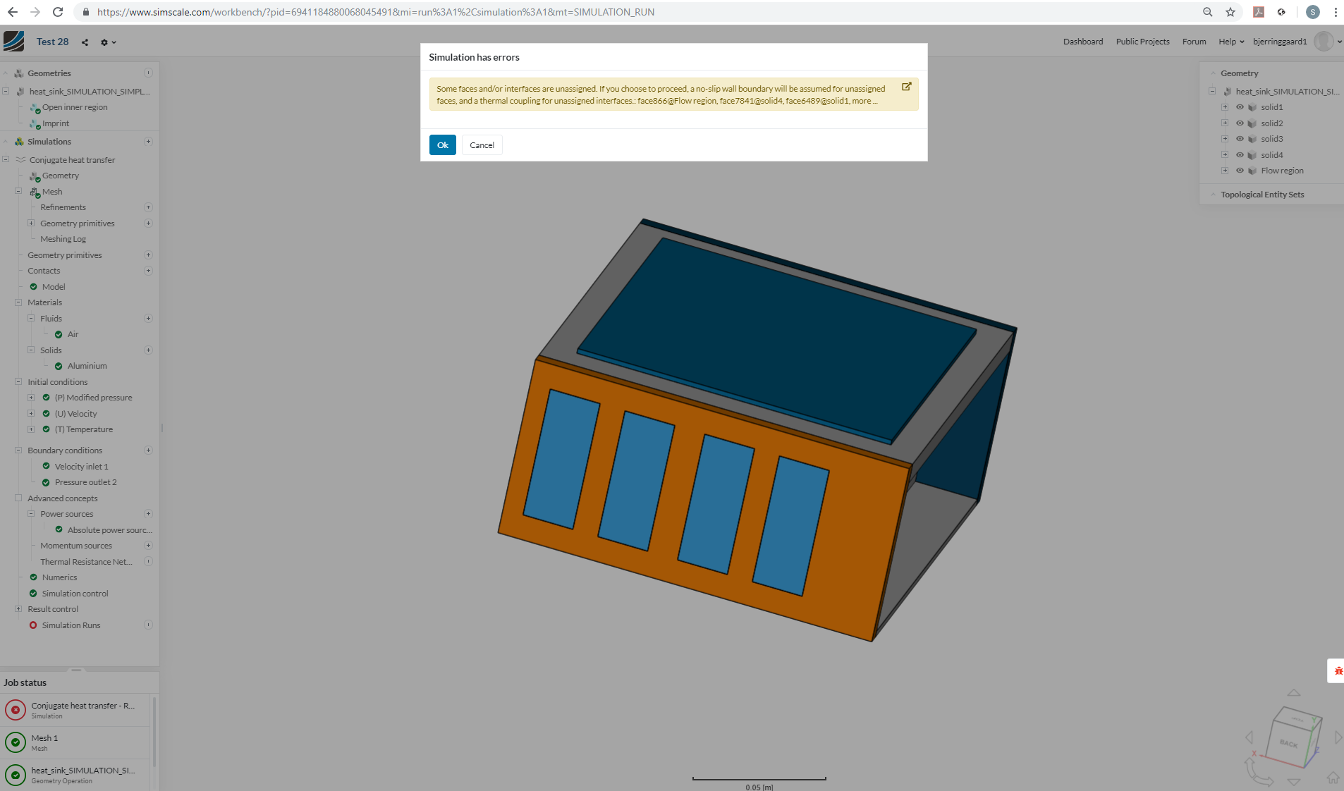 Simulation has errors - Project Support - SimScale CAE Forum