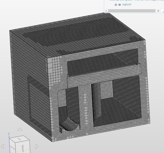 Mesh Section View - Section through Miner