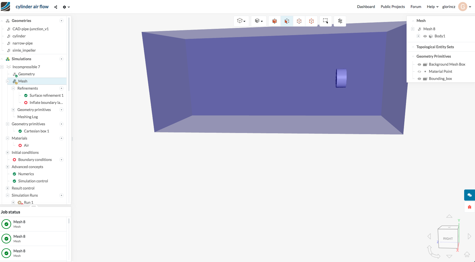 Cannot turn the boundary box into mesh - Project Support